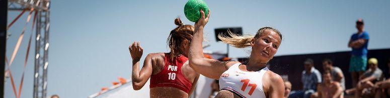 EK Beach handbal: zesde en dertiende plek als oogst
