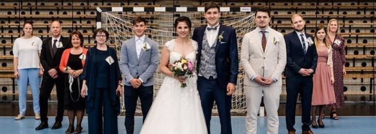 Handbalhuwelijk: Jasmina Jankovic en Daniel Rebmann zeiden 'ja'